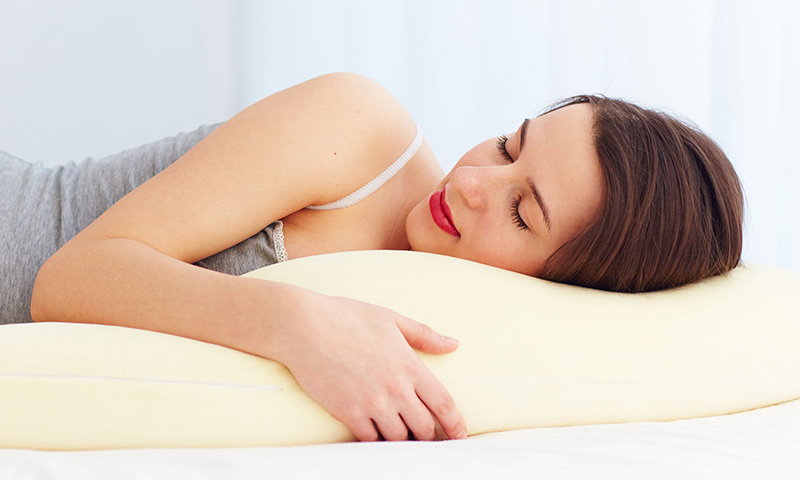 Use a teardrop pillow