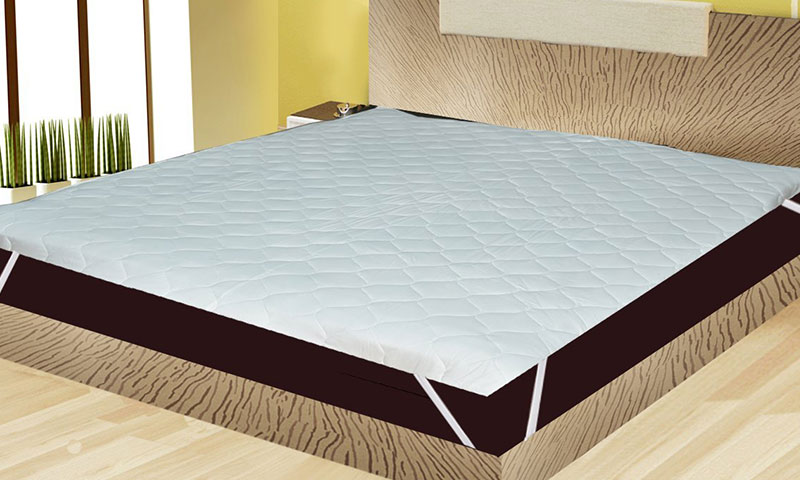 India Furnish Waterproof Quilted Mattress Protector King Size with Elastic Band – White