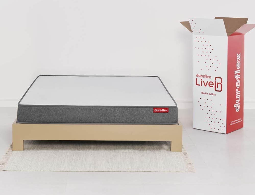 Duroflex Livein - Anti Microbial Fabric 6 Inch King Size Memory Foam Mattress (78 X 72 X 6)