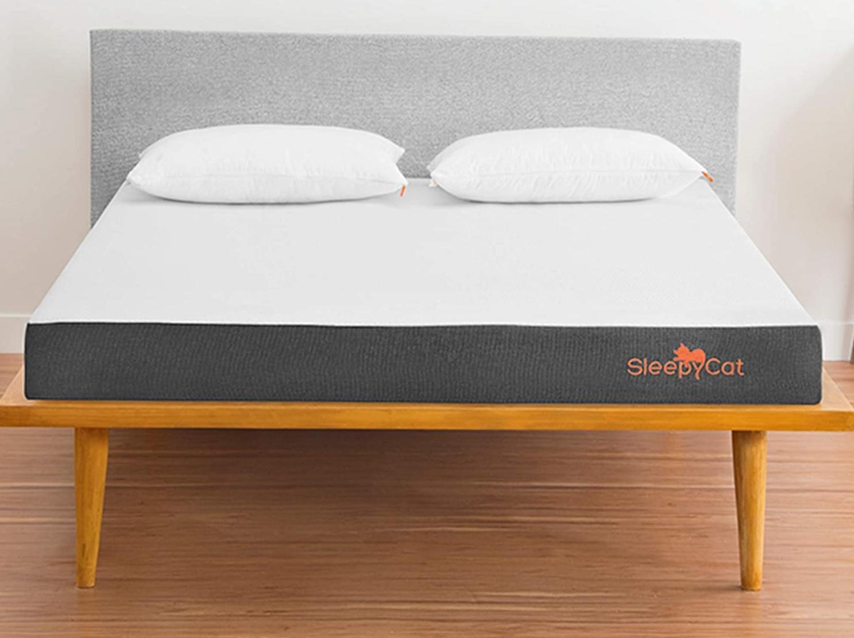 SleepyCat Original 6-inch Orthopedic Gel Memory Foam King Size Mattress (72x72x6 inches)